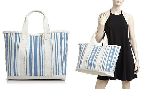 AQUA Striped Canvas Tote - 100% Exclusive - Bloomingdale's_2